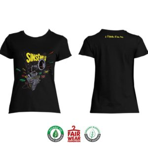 """T-shirt Femme """"À l'échelle d'une vie"""" - Noir"""