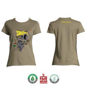 """T-shirt Femme """"À l'échelle d'une vie"""" - Kaki"""