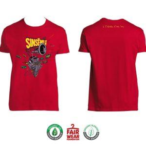 """T-shirt Homme """"À l'échelle d'une vie"""" - Rouge"""